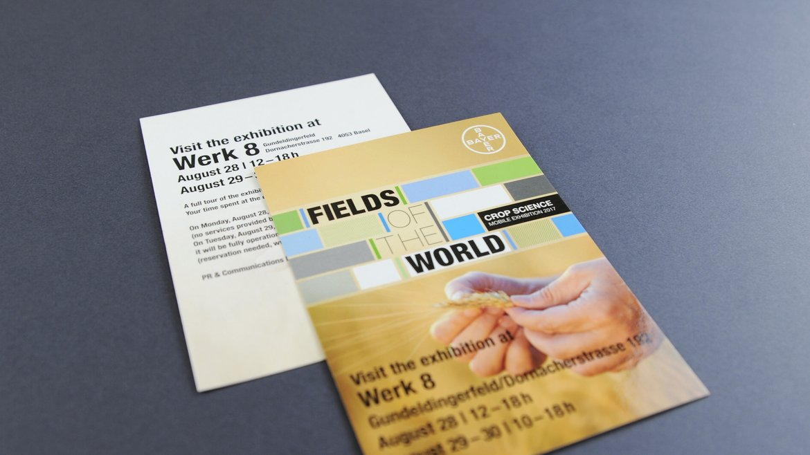 Flyer Fields of the World für Bayer Consumer Care AG Werbeagentur Basel Schwindl Schär